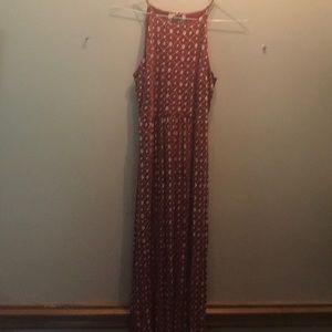 LOFT red/white halter dress